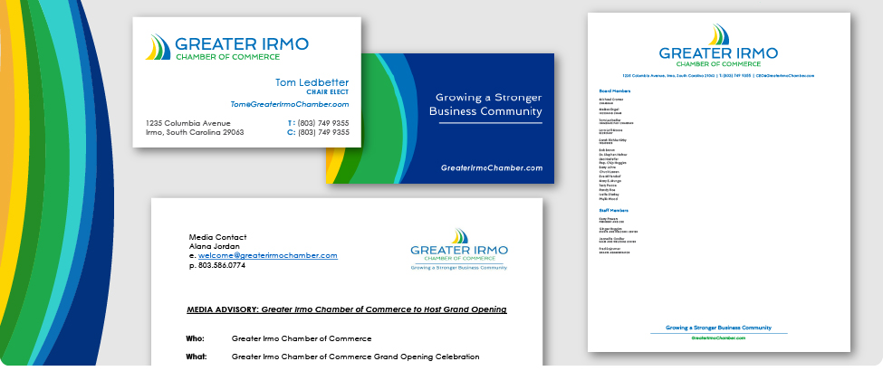 Greater Irmo Chamber of Commerce - branding & collateral